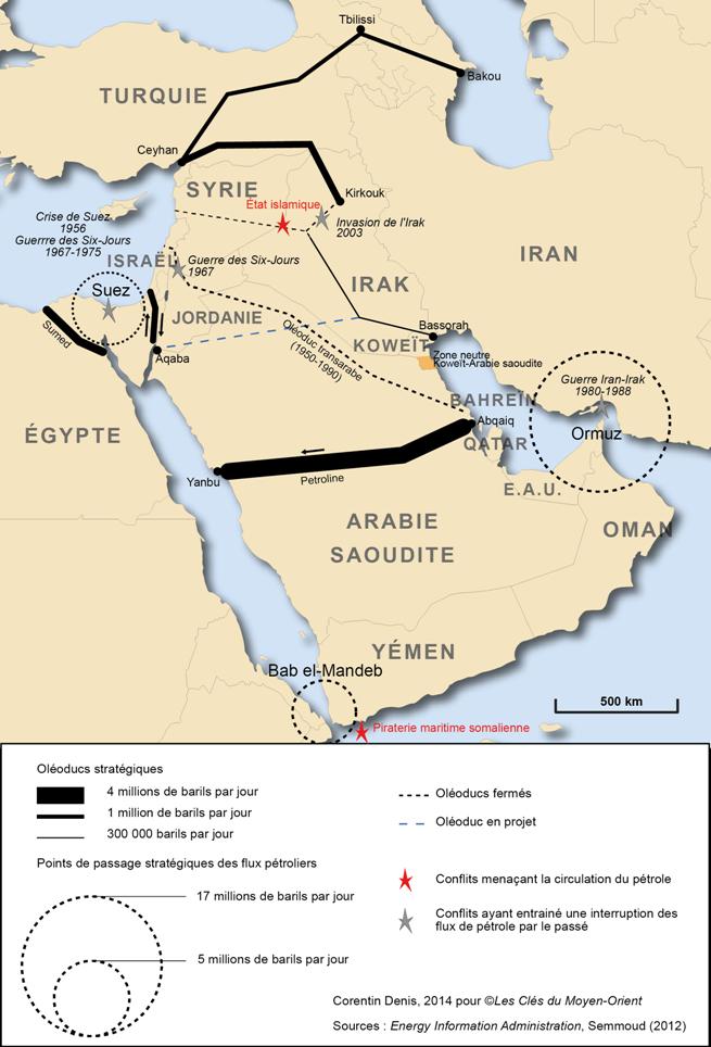 Carte De Lafrique Et Moyen Orient.Les Enjeux Du Petrole Au Moyen Orient Par Les Cartes Les Cles Du
