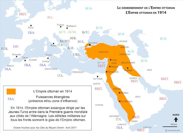 Cartographie de l expansion et du d membrement de l empire ottoman les cl s du moyen orient - La carte de l empire ottoman ...